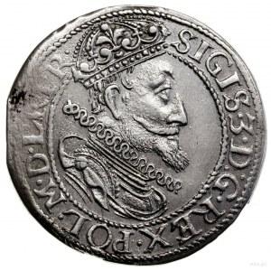 Ort, 1615, mennica Gdańsk; na awersie duża głowa króla ...