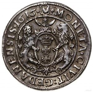 Ort, 1616, mennica Gdańsk; popiersie króla z kołnierzem...