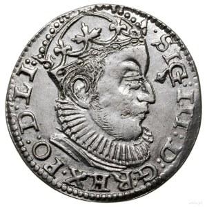 Trojak, 1589, mennica Ryga; lilia u dołu rewersu po lew...