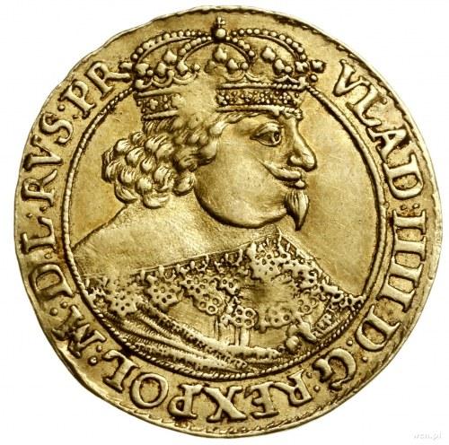 Dukat, 1639, mennica Gdańsk; Aw: Popiersie króla w praw...