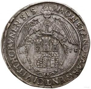 Talar, 1635, mennica Toruń; Aw: Wąska półpostać króla, ...