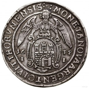 Talar, 1637, mennica Toruń; Aw: Półpostać króla w prawo...