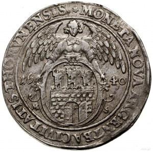 Talar, 1640, mennica Toruń; Aw: Półpostać króla w prawo...