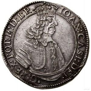 Talar, 1649, mennica Kraków; Aw: Popiersie władcy w zbr...