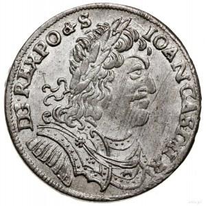 Ort, 1653, mennica Wschowa; głowa króla rozdziela legen...