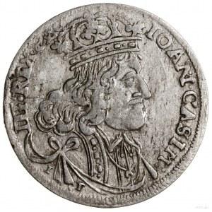 Ort, 1656, mennica Kraków; na awersie CASIM, I - T (min...