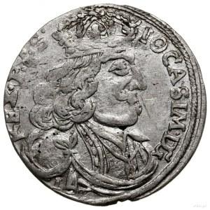 Szóstak, 1656, mennica Kraków; pod popiersiem litery I ...