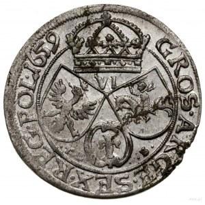 Szóstak, 1659, mennica Kraków; w legendzie awersu SVE, ...