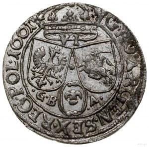 Szóstak, 1661, mennica Lwów; na awersie Ślepowron bez o...