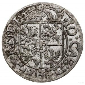 Półtorak, 1666, mennica Kraków; Aw: Ukoronowana, pięcio...