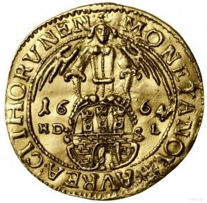 Dwudukat, 1664, mennica Toruń; Aw: Popiersie króla w pr...