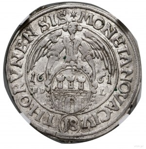 Ort, 1661, mennica Toruń; odmiana z napisem NOVA CIV w ...