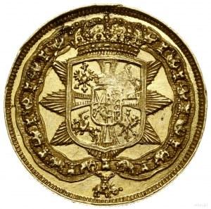 Dwudukat medalowy, 1702, mennica Drezno; Aw: Głowa król...