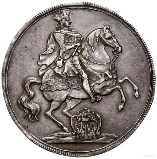 Talar wikariacki, 1711, mennica Drezno; Aw: Król na kon...