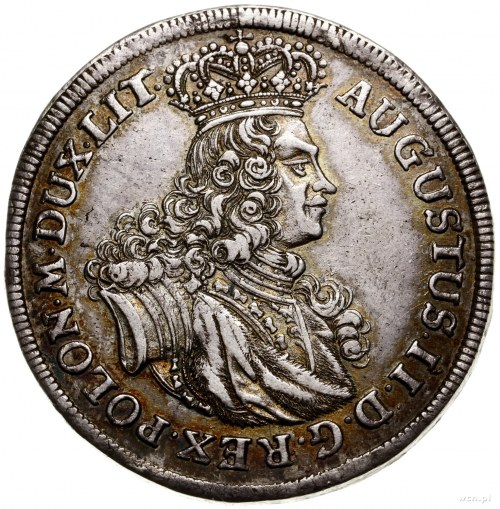 Talar (Albertustaler), 1702, mennica Lipsk; Aw: Popiers...