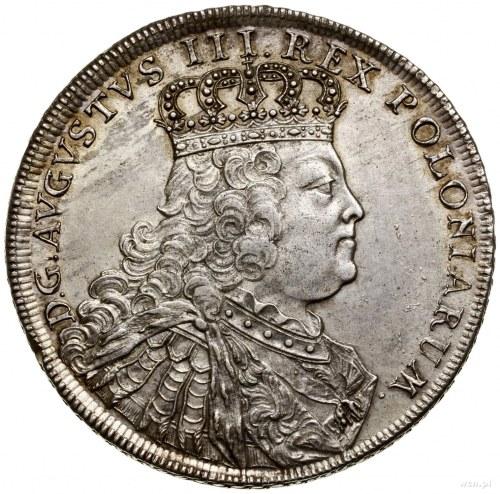 Talar (Banco-taler), 1754, mennica Drezno; Aw: Popiersi...