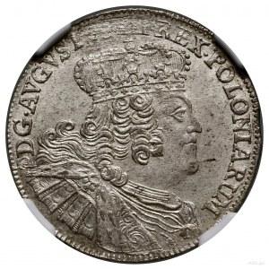 Ort, 1756 EC, mennica Lipsk; efraimek, masywne popiersi...