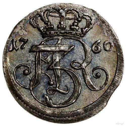 Trojak, 1760, mennica Gdańsk; litery R E Œ (inicjały mi...