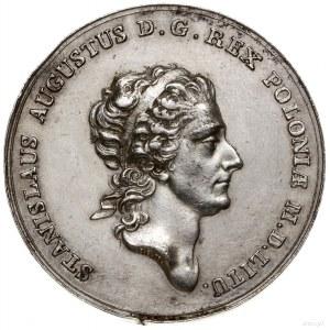 Talar próbny, 1771, mennica Warszawa; Aw: Głowa króla w...