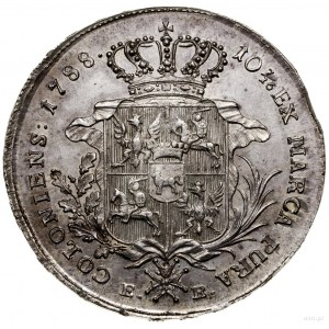 Talar, 1788, mennica Warszawa; Aw: Głowa króla w prawo,...