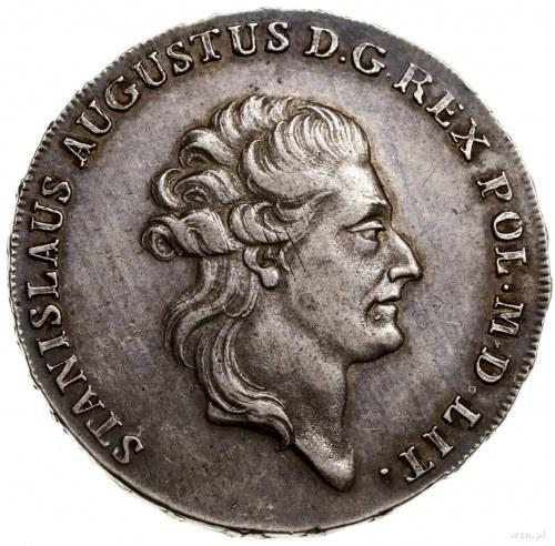 Półtalar, 1784, mennica Warszawa; Aw: Głowa króla w pra...