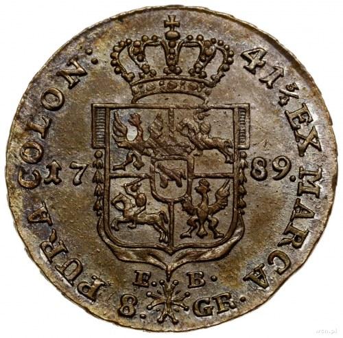 Dwuzłotówka (8 groszy), 1789 EB, mennica Warszawa; z li...
