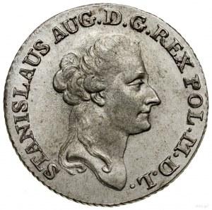 Złotówka (4 grosze), 1787 EB, mennica Warszawa; litery ...