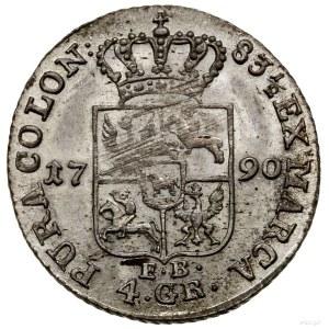 Złotówka (4 grosze), 1790 EB, mennica Warszawa; litery ...