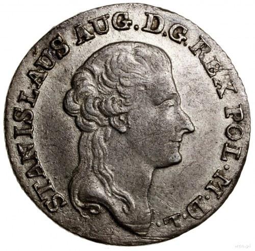 Złotówka (4 grosze), 1794, mennica Warszawa; odmiana z ...