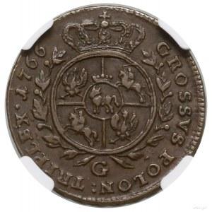 Trojak, 1766, mennica Warszawa; duża litera G (Piotr Mi...