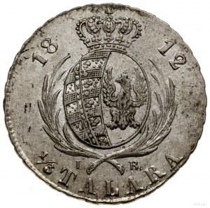 1/3 talara (dwuzłotówka), 1812, Warszawa; z literami I ...