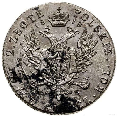 2 złote, 1818, Warszawa; litery I - B; Bitkin 832, H-Cz...