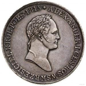5 złotych, 1830, Warszawa; odmiana z literami K - G (Ka...