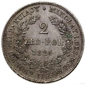 2 złote, 1826 IB, Warszawa; Bitkin 993 (R), H-Cz. 3607,...