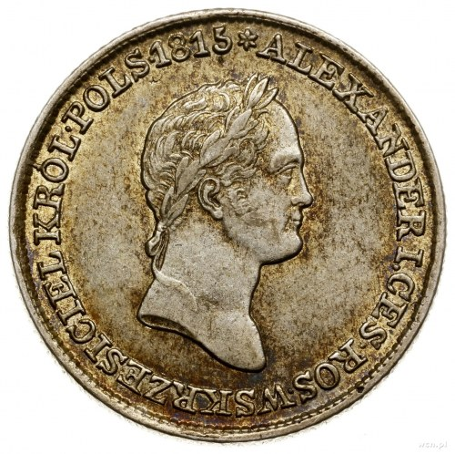 1 złoty, 1830 FH, Warszawa; odmiana z kropkami po ZŁO i...