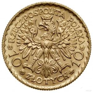 10 złotych, 1925, Warszawa; moneta wybita na pamiątkę 9...
