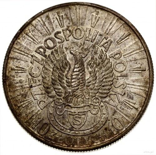 10 złotych, 1934 S, Warszawa; Józef Piłsudski - Orzeł S...