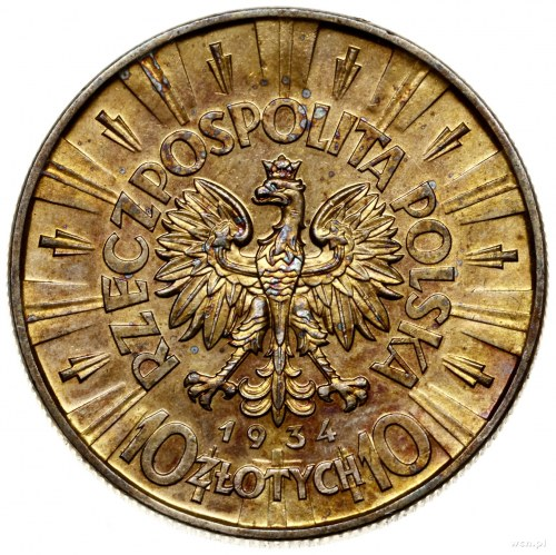 10 złotych, 1934, Warszawa; Józef Piłsudski; Kop. 3002 ...