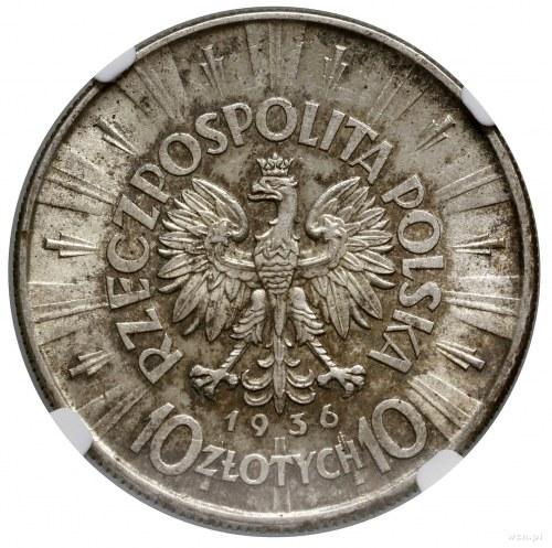 10 złotych, 1936, Warszawa; Józef Piłsudski: Kop. 3004,...