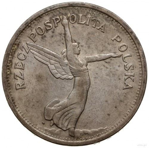 5 złotych, 1928, Warszawa; odmiana ze znakiem mennicy z...