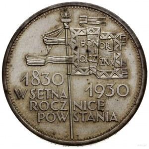 """5 złotych, 1930, Warszawa; """"Sztandar"""" - 100-lecie Powst..."""