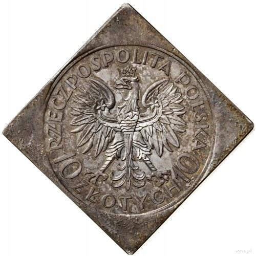 Klipa 10 złotych, 1933, Warszawa; Jan III Sobieski – 25...