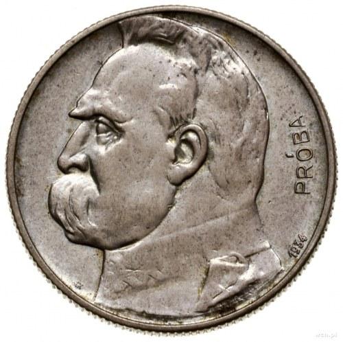 5 złotych, 1934, Warszawa; Józef Piłsudski – Orzeł Strz...