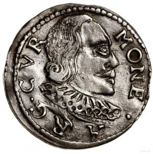 Trojak, 1598, Mitawa; odmiana z kryzą podwójnej grubośc...