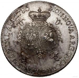 Talar, 1780, Mitawa; Aw: Głowa księcia w prawo ilegend...