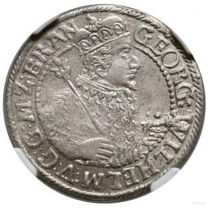 Ort, 1623, Królewiec; popiersie w płaszczu elektorskim ...