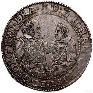 Talar, 1609 CT, Złoty Stok; Aw: Półpostacie książąt zwr...