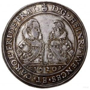 Talar, 1620, Oleśnica; Aw: Popiersia Henryka iKarola z...