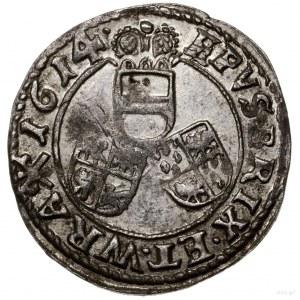3 krajcary, 1614, Nysa; na awersie CAR D G ARC (3)...; ...
