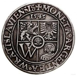FALS! Talar, 1545, Wrocław; Aw: Pięciopolowa tarcza herbowa m...